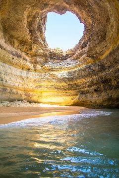 Benagil Sea Cave on Praia de Benagil, Portugal