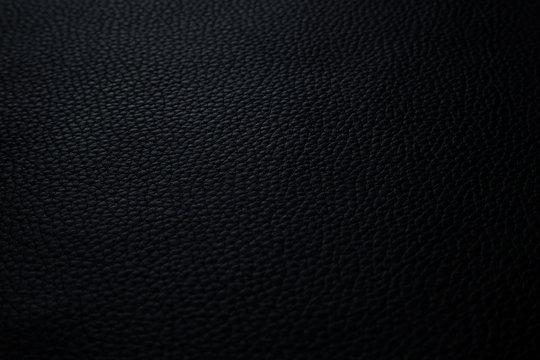 Texture cuir grainé noir