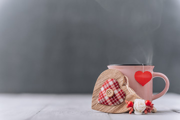 Photo sur Plexiglas Cafe background concept for valentines day. place for text