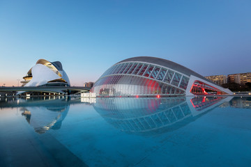 Valencia, Spain: The Hemisfèric in the City of Arts and Sciences is a cultural and architectural complex in the city of Valencia, Spain
