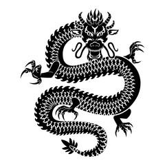 Czarny chiński smok