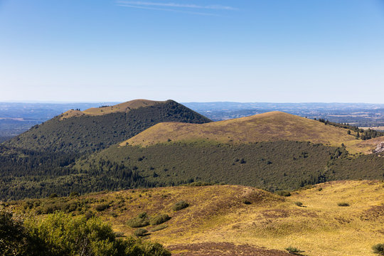 The Auvergne Volcanoes Regional Park, view, France