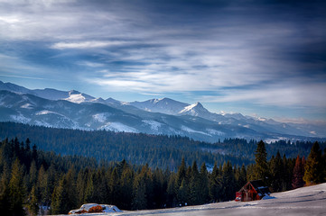 Tatra mountains in winter with a lot of snow
