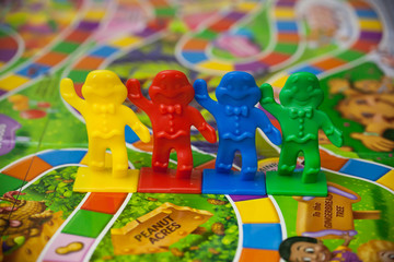 Woodbridge, NJ - January 3, 2020: A closeup view of the classic family board game, Candy Land.