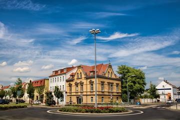 Fotomurales - delitzsch, deutschland - stadtpanorama mit rondell