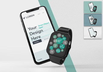 Smart Watch and Phone Mockup