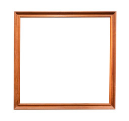 beech wooden square brown picture frame cutout
