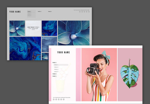 Website Layout with Image Grids