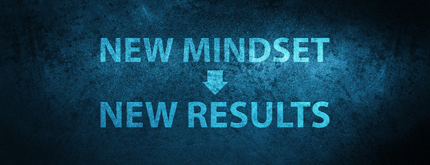 New Mindset New Results icon Special Blue Banner Background