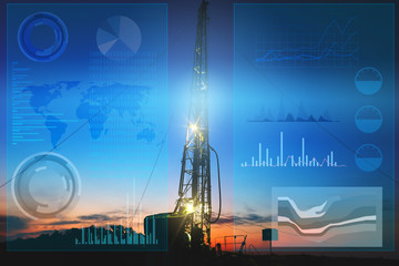 automation of oil and gas production to prevent accidental drilling of wells. The use of artificial intelligence to process and store data when drilling wells and finding productive fields