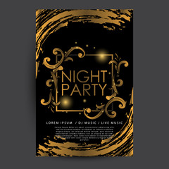 Luxury Night Party Poster Template