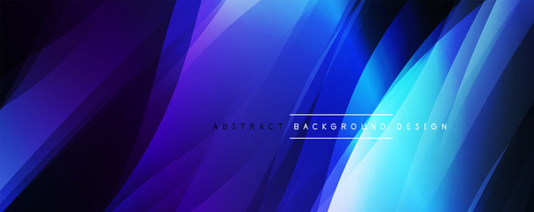 Dynamic trendy simple fluid color gradient abstract background with line effects. Vector Illustration For Wallpaper, Banner, Background, Card, Book Illustration, landing page Wall mural