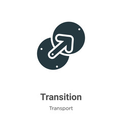 Transition glyph icon vector on white background. Flat vector transition icon symbol sign from modern transport collection for mobile concept and web apps design.