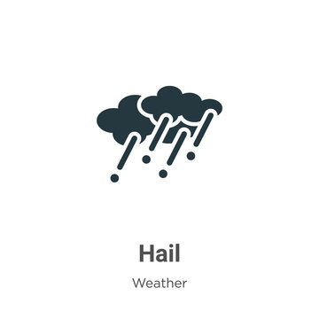 Hail glyph icon vector on white background. Flat vector hail icon symbol sign from modern weather collection for mobile concept and web apps design.