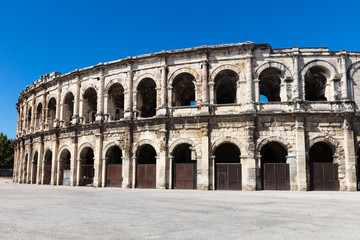 Ancient Roman Arena in Nimes, France