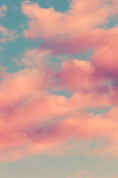 sky with pink clouds background image