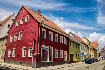 Fotomurales - delitzsch, deutschland - historische häuser in der altstadt