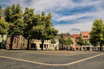 Fotomurales - delitzsch, deutschland - großer marktplatz in der altstadt