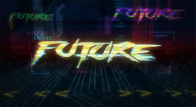 Cyberpunk style intro with future theme