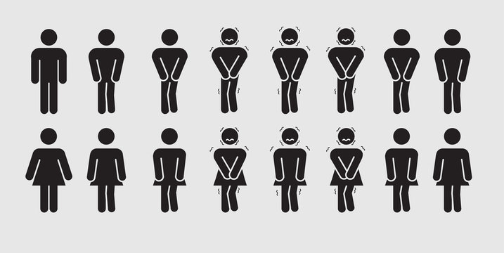 Toilet Sex Symbol Animation Moving Cartoon Vector
