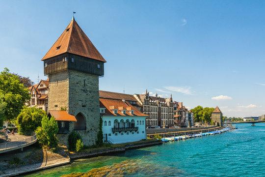 Der Rheintorturm in Konstanz am Bodensee