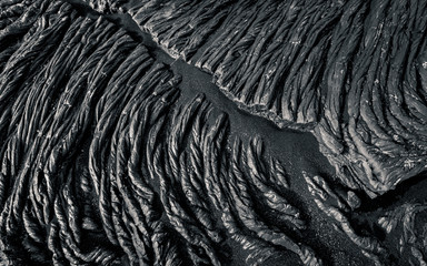 Detail of solidified lava, Holuhraun Lava Field, Iceland