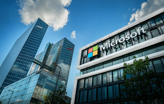 IBM Watson IoT Center and Microsoft Headquater in Munich Germany - May 08, 2018
