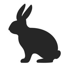Bunny silhouette vector icon