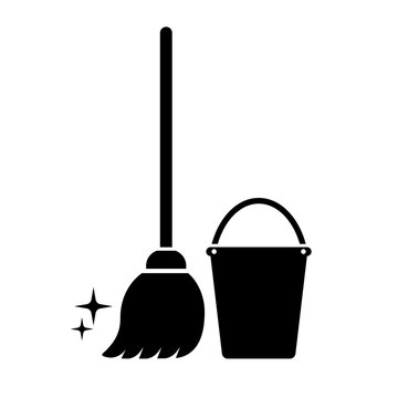 Cleaning service vector icon