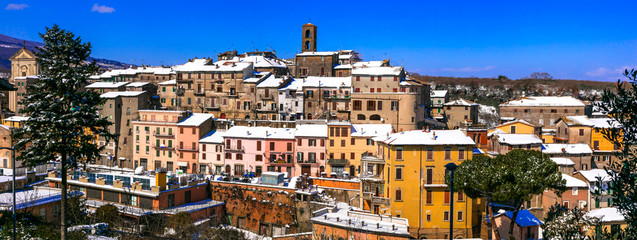 medieval traditional hill top villages (borgo) of Italy -Vallerano (Viterbo province) , Lazio