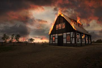 Haus brennt Fotoväggar