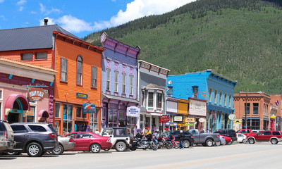Silverton, USA - August 6, 2017 : Main street in Silverton Historic Downtown