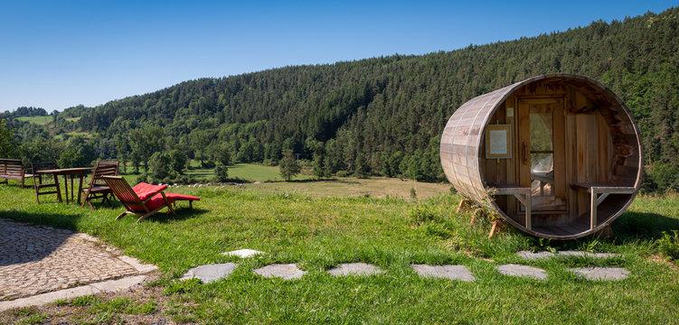 sauna extérieur en pleine nature