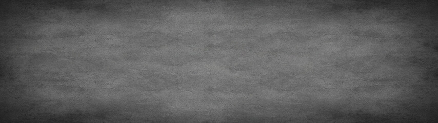 Foto auf Leinwand Steine Grey black anthracite stone concrete texture background panorama banner long