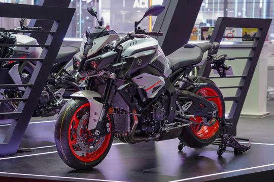 BANGKOK, THAILAND - Mar 26, 2019 : Yamaha Motorcycle on display present at The 40th Thailand International Motor Show in IMPACT exhibition hall Muangthong Thani Bangkok, Thailand