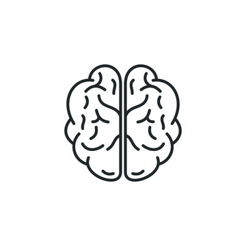 Brain, mind or intelligence icon template color editable. Brain symbol vector sign isolated on white background illustration for graphic and web design.