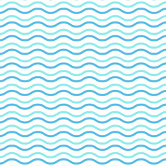 blue waves watercolor seamless background