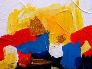 Hand draw colorful oil paint abstract background with texture.