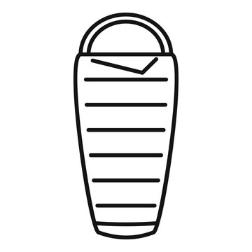 Activity sleeping bag icon. Outline activity sleeping bag vector icon for web design isolated on white background