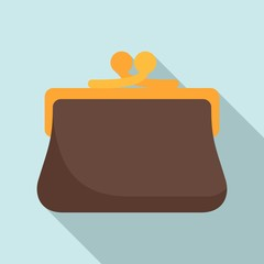 Woman wallet icon. Flat illustration of woman wallet vector icon for web design