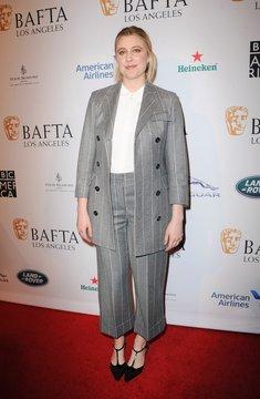 Greta Gerwig at arrivals for BAFTA Tea Party