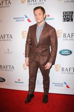 Taron Egerton at arrivals for BAFTA Tea Party