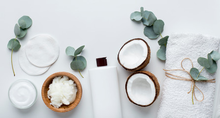 Eco natural products for spa with coconut natural cosmetics Fotomurales