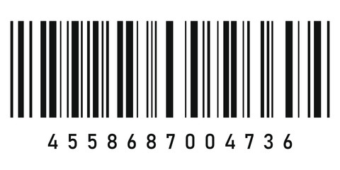 Barcode symbol icon. Vector illustration isolated on white background