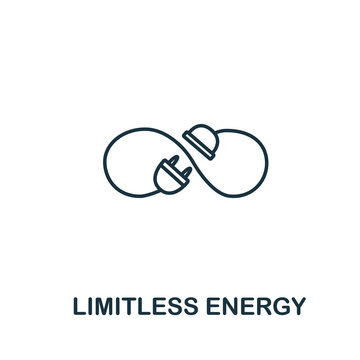 Limitless Energy icon from clean energy collection. Simple line element limitless energy symbol for templates, web design and infographics