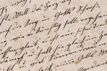 Ausschnitt eines handschriftlichen Briefs - Mitte 19. Jahrhundert