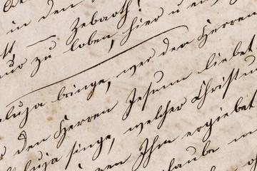 Historische Handschrift Nahaufnahme - Mitte 19. Jahrhundert