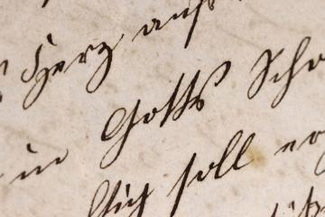 """Historisches Schriftbild - Fokus auf dem Wort """"Gott"""""""