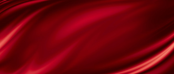 Photo sur Aluminium Tissu Red luxury fabric background with copy space