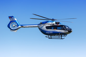 Police Helicopter Eurocopter H145 Stuttgart airport